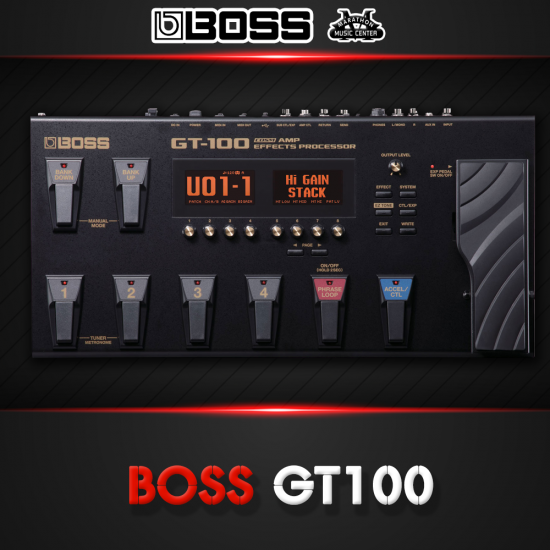 เอฟเฟกกีตาร์ BOSS GT100